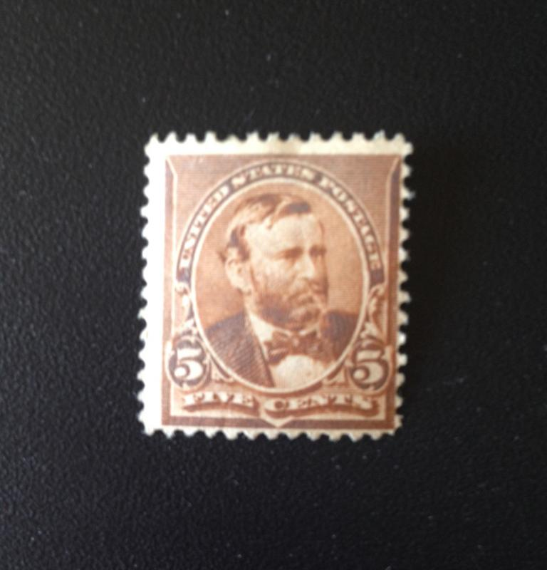 S&G Stamps SCOTT #223 Grant No Triangles MINT, FINE, LH, OG  CV $60