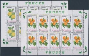 Romania stamp Fruits 4 mini sheets 2002 MNH Mi 5694-5697 WS183053