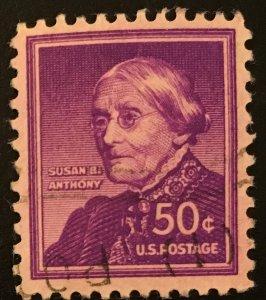 1051 Susan B. Anthony, Circulated single, Vic's Stamp Stash