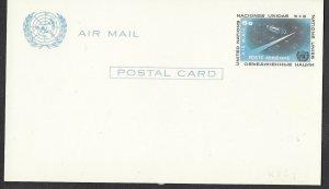 UN-NY # UXC4    6c Airmail Postal Card - Mint  (1)