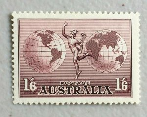 APD548) Australia 1937 1/6 Hermes (Thick) with Watermark MUH