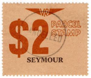(I.B) Australia - Victoria Railways : Parcels Stamp $2 (Seymour)