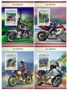 Z08 DJB16604d DJIBOUTI 2016 Motorcycles MNH ** Postfrisch
