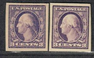 $US Sc#483+484 M/LH/VF, imperf type I+II cv. $22
