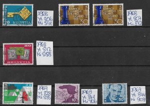 Switzerland used  1968 1969  several issues