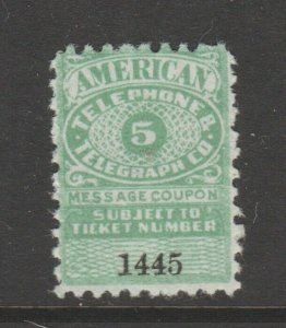 USA Telephone Stamp Coupon Cinderella revenue fiscal 9-18  telegraph exp 1923