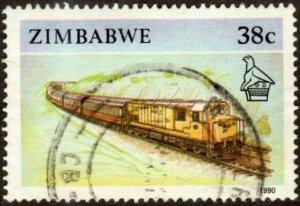 Zimbabwe 628 - Used - 38c Train (1990) (cv $0.55)
