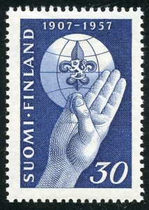 Finland Scott 346 MVFNHOG - 50th Anniversary of Boy Scouts - SCV $2.50
