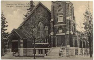 Canada View Card Showing Presbyterian Church, Durham, Ontario F+