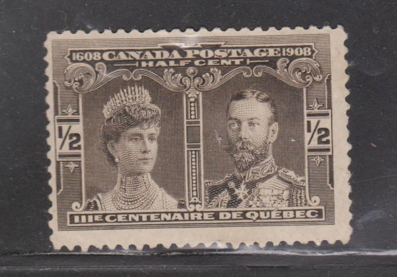 CANADA Scott # 96 - Mint Hinged  - 1/2 Cent Quebec Tercentenary Issue