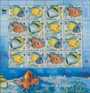 Pitcairn Islands 2010 SG807-810 Reef Fish sheetlet MNH