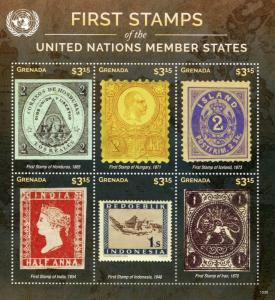Grenada 2015 MNH First Stamps UN United Nations Member States 6v M/S V