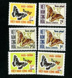 Vietnam Stamps # J15-20 VF Butterflies OG NH