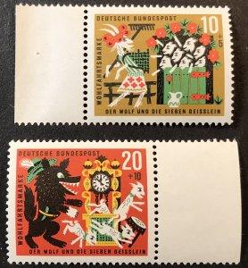 Germany B392, B394 MNH Fairy tales