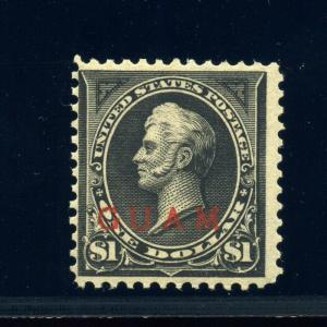 Guam Scott #12 Overprint Mint Stamp NH (Stock Guam #12-22)