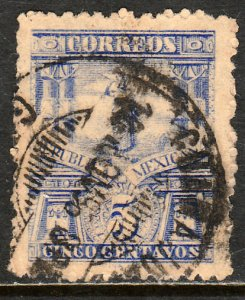 MEXICO 261 5cents MULITA WMK INTERLACED RM USED F-VF. (161)