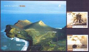 Azores. 2007. 540-41, bl35. Volcanoes landscapes geology. MNH.