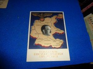 WWII ERA GERMANY PROPAGANDA POST CARD, EIN FUHRER