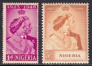 Nigeria - Scott #73-74 - MLH - Minor stain, gum toning - SCV $13.85