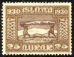Iceland Sc# 158 MH 1930  a Definitives