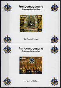 Sao Tome and Prince 2004 Freemasonry 4  Souvenir Sheets IMPERF. MNH