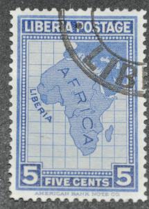 DYNAMITE Stamps: Liberia Scott #233 – USED