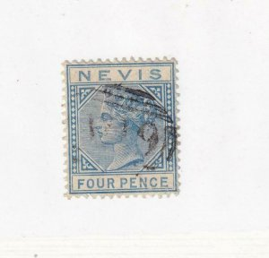 NEVIS # 26 VF-LIGHT USED Q/VICTORIA 4p CAT VALUE $55+