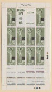 Malta Scott #480-483 Stamp - Mint NH Souvenir Sheet