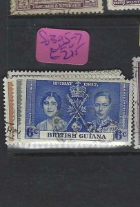 BRITISH GUIANA  (P2501BB)  KGVI  CORONATION  SG 305-7   VFU