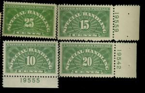 QE1-4 MINT F-VF OG NH Cat$54.25