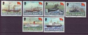 J22001 Jlstamps 1980 isle of man set mnh #168-73 ships