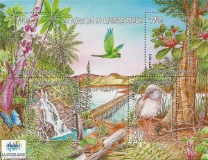 New Caledonia - 2011 Flora & Fauna of Riviere Bleue Park - 4 Stamp Sheet #1116