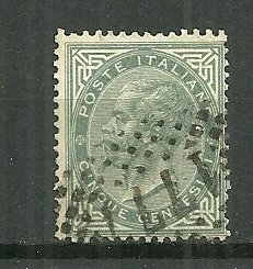 1863-77 Italy 26  5c Emmanuel II used.