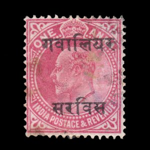 India Convention States 1907. SCOTT # O20. USED