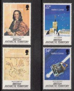 BRITISH ANTARCTIC 1986 Halley's Comet; Scott 129-32, SG 147-50; MNH