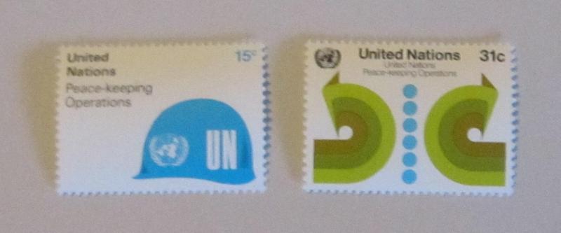 UN, NY - 320-21, MNH Set. Peace Keeping. SCV - $0.65