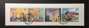 Belgium 1991 #1421a Unfolded booklet, Used/First day cancel
