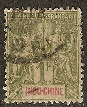 Indo-China Indochine 20 Ce 15 Used VF 1892 SCV $36.00
