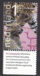 Netherlands 2013  MNH Zoo Arnhem 1 panther with tab   #