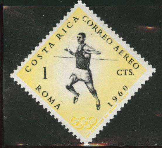 Costa Rica Scott C303 Olympic airmail from 1960 MH*
