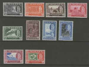 Malaya S. Setts. Kelantan 1957-1963 SG 83-93 Sc 111-120 FU SG 91 Others MH