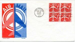 US FDC #C60 Jet Block, Cachet Craft (9460)