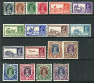 INDIA-1937-48  A lightly mounted mint set of 18 values Sg 247-264