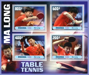 Stamps. Sports Table Tennis Set 2 sheet perforated