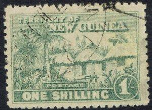 NEW GUINEA 1925 HUT 1/- USED