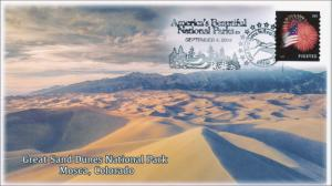 2014, Great Sand Dunes National Park, Pictorial Postmark , Item 14-164