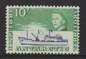 1963 Br Antarctic Terr 10/- RRS Shackleton Mint SG14