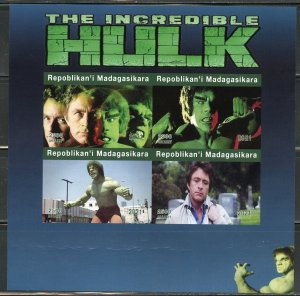 MADAGASCAR 2021 THE INCREDIBLE HULK  IMPERF SHEET MINT NEVER HINGED