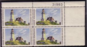 US Plt Blk Sc# 1391 Light Houses MNH #31983 UR