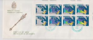CANADA FDC FROM HOUSE OF COMMONS STAMPS #890-893  LOT#M104